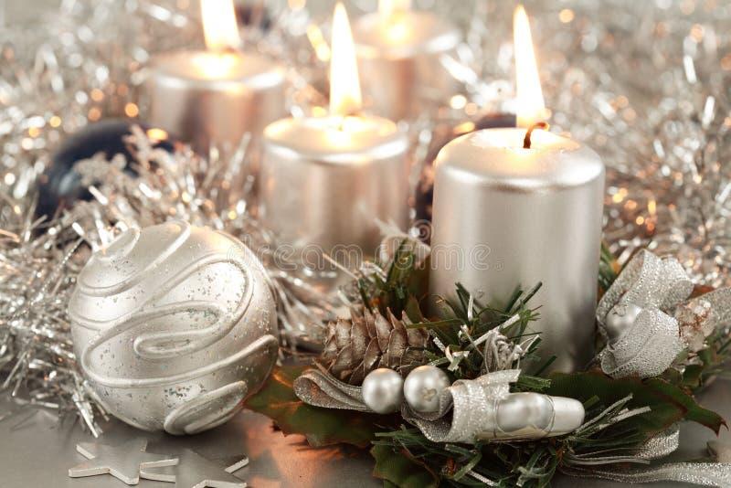 Natale d'argento fotografia stock