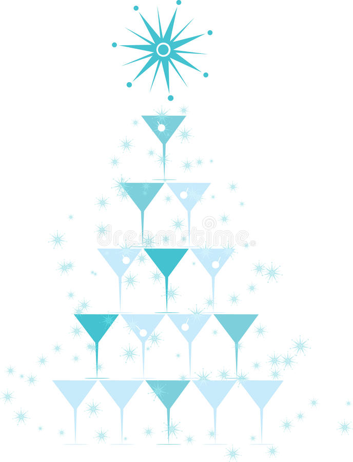 Natale del cocktail illustrazione di stock