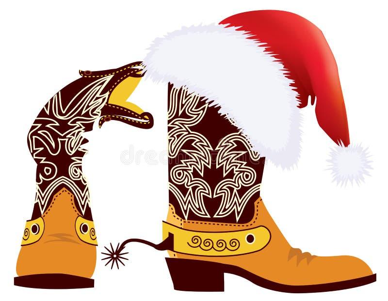 Natale del cowboy royalty illustrazione gratis