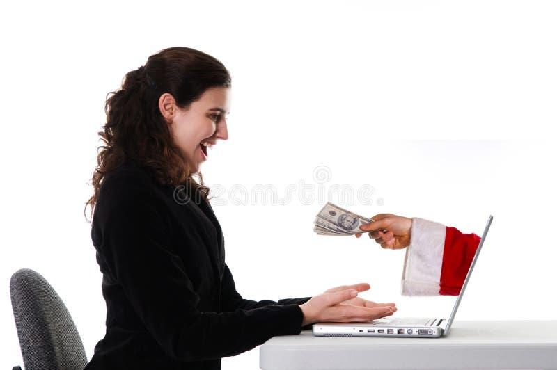 Natale del Internet fotografia stock