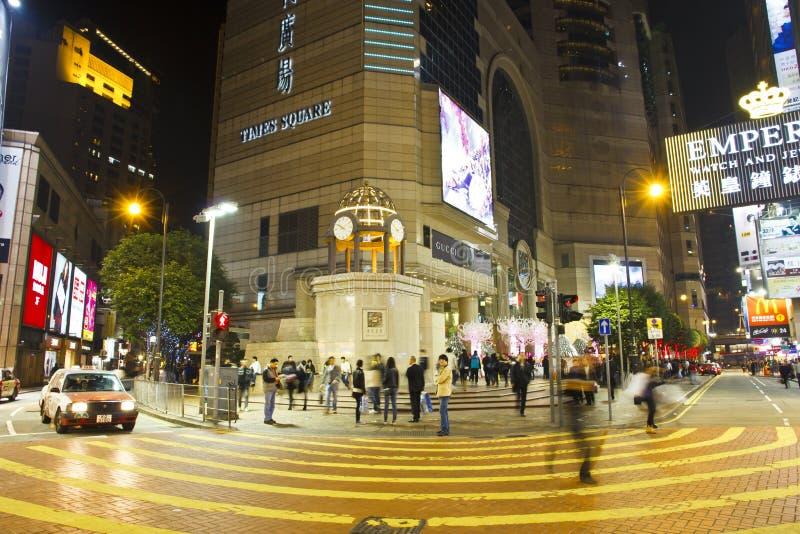Natale del quadrato di tempo di Hong Kong fotografia stock libera da diritti