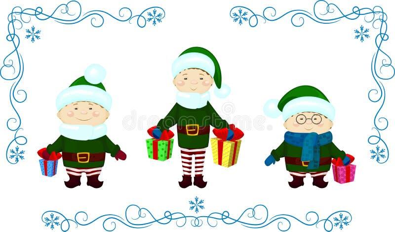 Natale del regalo di Elfs royalty illustrazione gratis