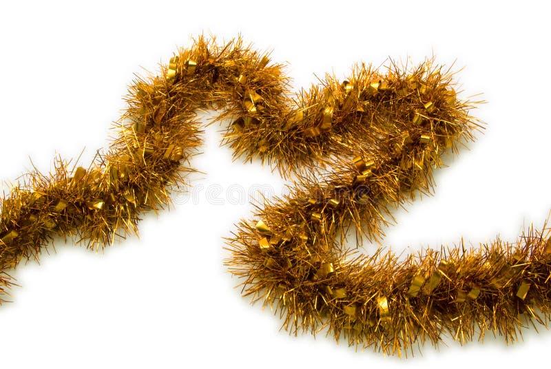 Natale della canutiglia dell'oro   fotografia stock