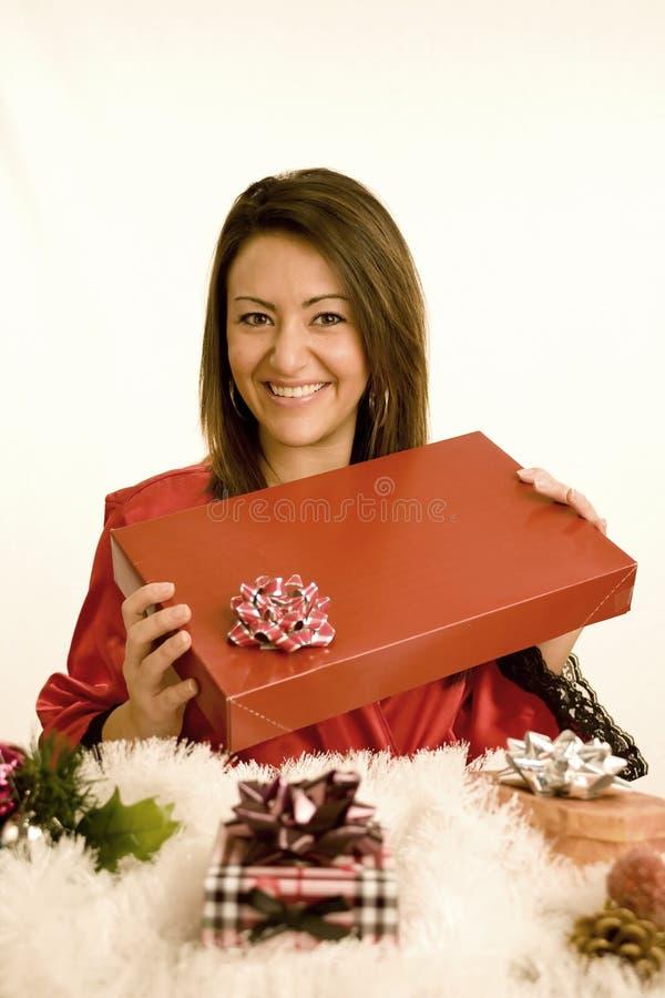 Natale della donna fotografia stock libera da diritti