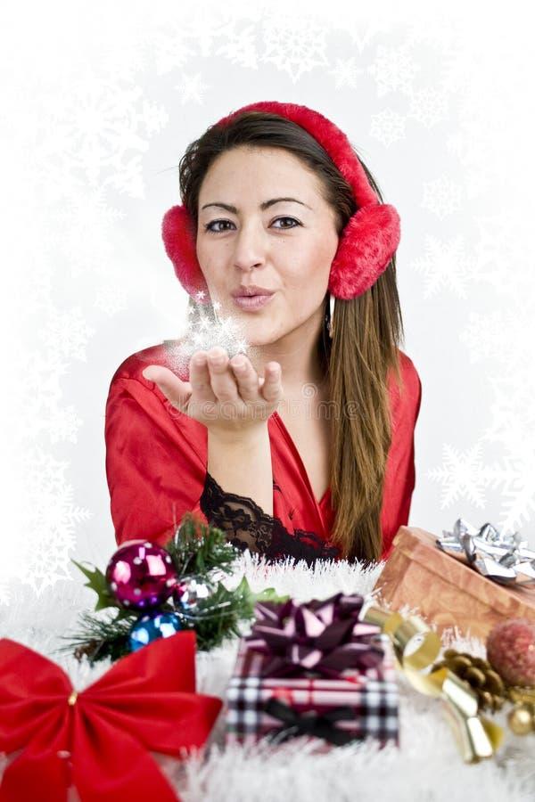 Download Natale della donna immagine stock. Immagine di casella - 7320157