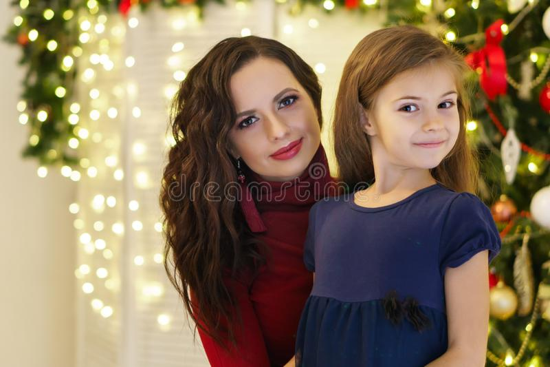 Natale della famiglia Madre e figlia fotografie stock