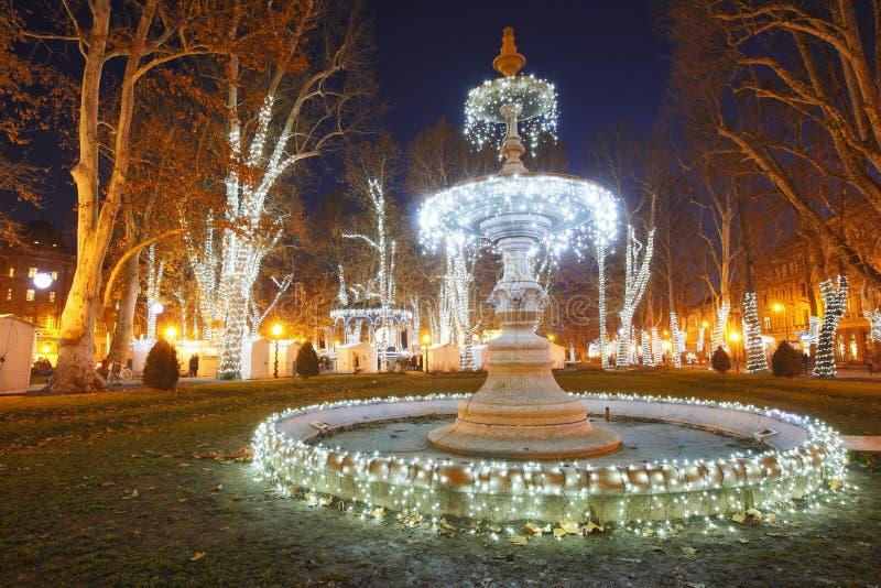 Natale di Zagabria fotografie stock