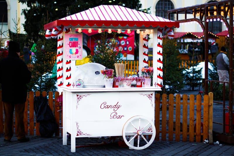 Natale dolce della barra di caramella, Sibiu immagini stock libere da diritti