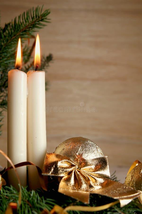 Natale dorato immagine stock libera da diritti