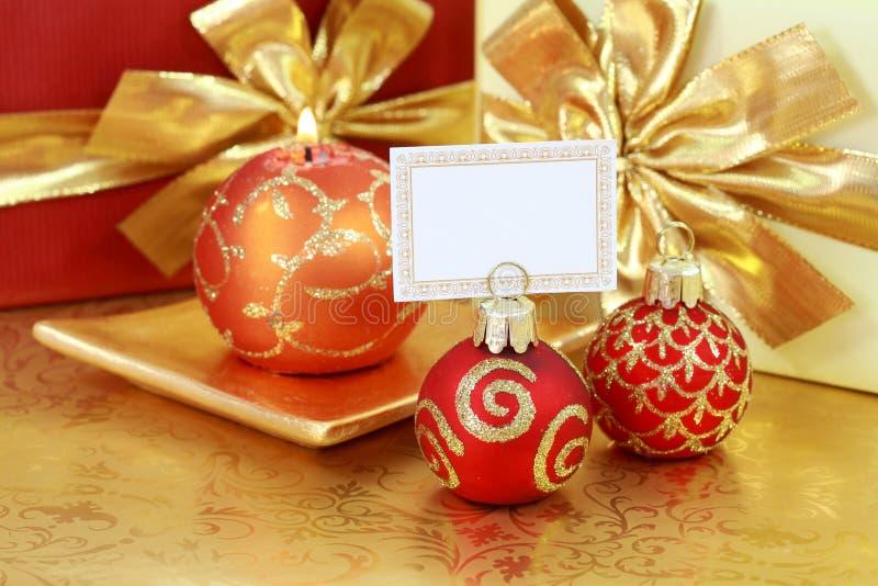 Natale dorato fotografie stock