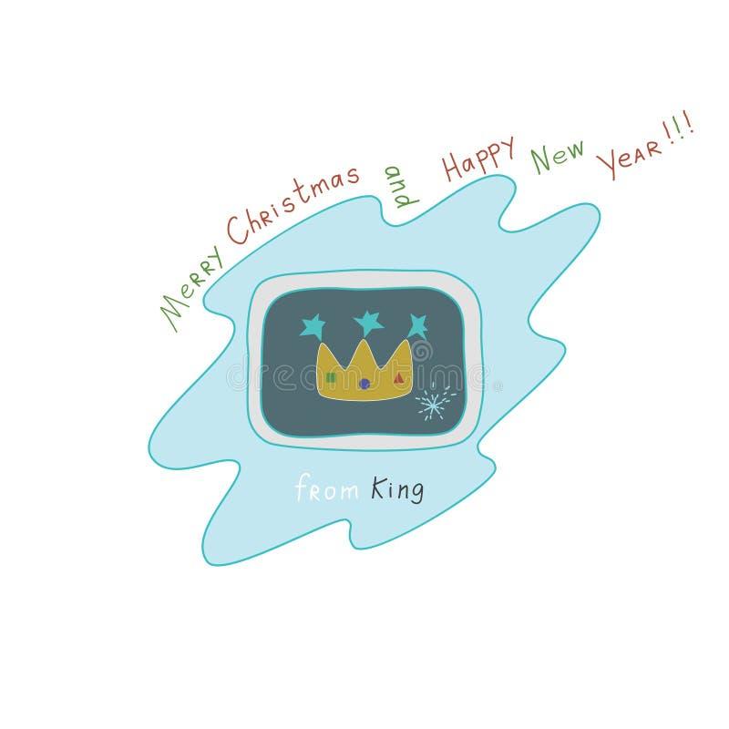 """Natale e buon anno """"Merry dal  di King†fotografia stock libera da diritti"""