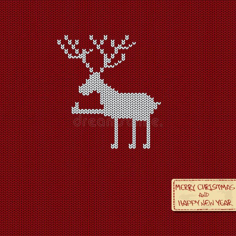 Natale e carta di modello tricottata nuovo anno royalty illustrazione gratis