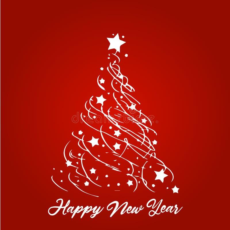 Natale e fiocchi di neve, luce, stelle Scheda di natale Illustrazione di vettore royalty illustrazione gratis