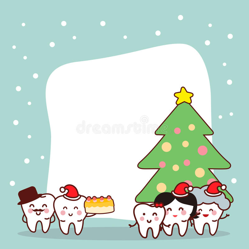 Natale e neve con il dente illustrazione vettoriale