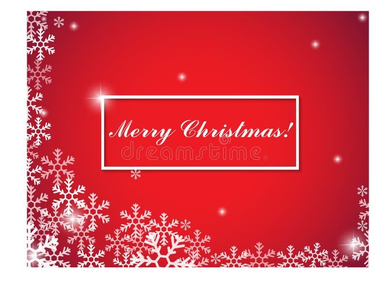Natale e nuovo anno tipografici su fondo illustrazione di stock