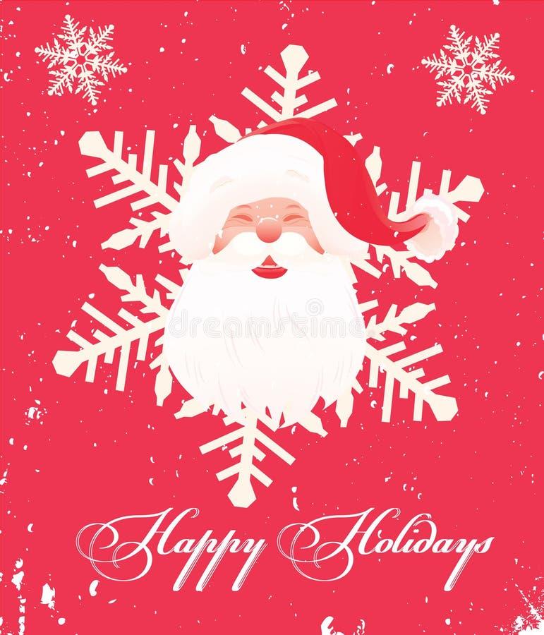Natale felice illustrazione vettoriale