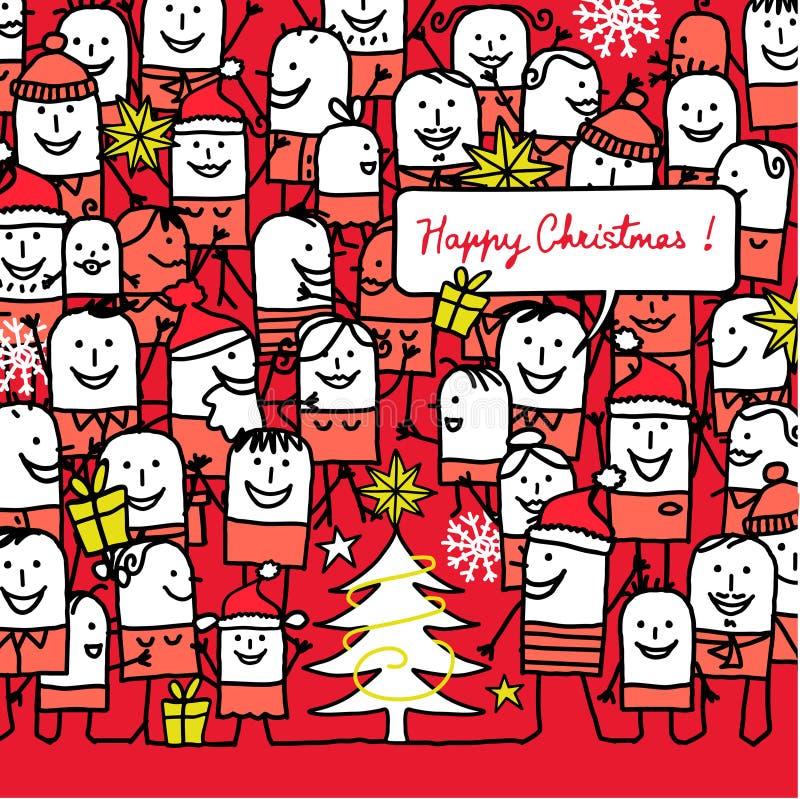 Natale felice! illustrazione di stock
