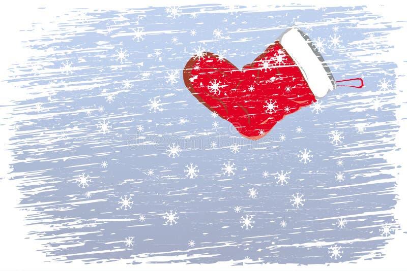 Natale felice della bufera di neve illustrazione vettoriale