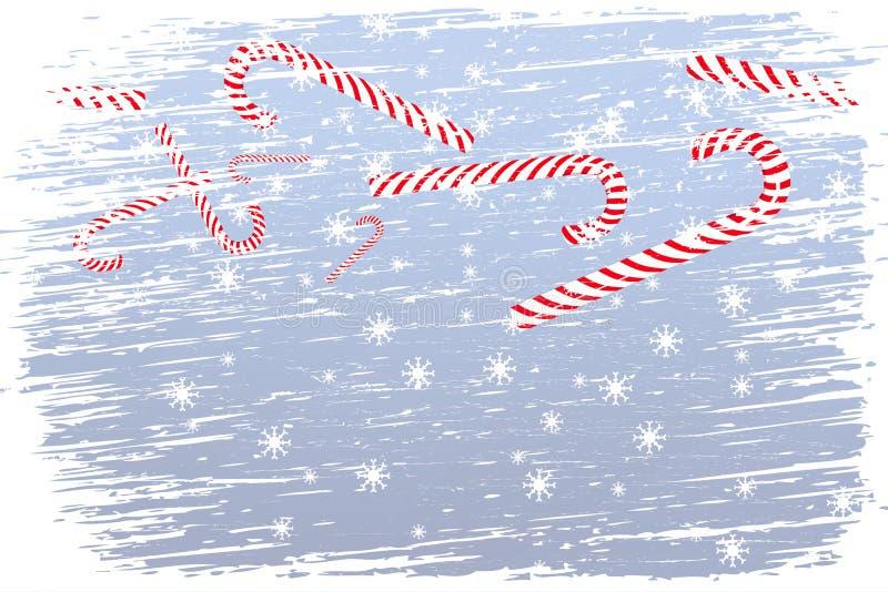 Natale felice della bufera di neve illustrazione di stock