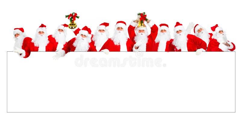 Natale felice Santa fotografie stock