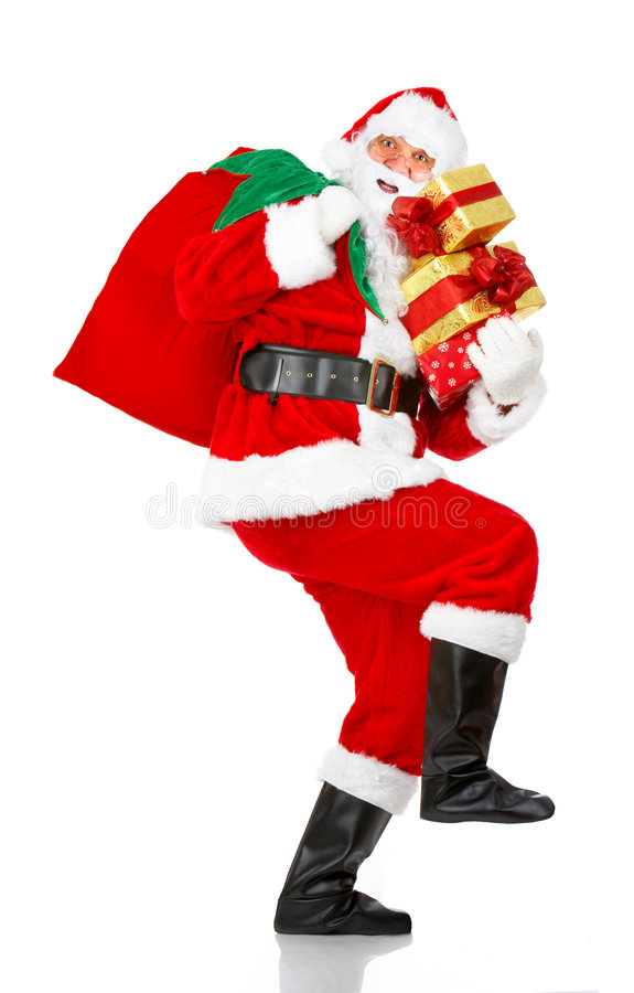 Natale felice Santa fotografie stock libere da diritti