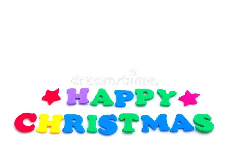 Natale felice variopinto fotografie stock