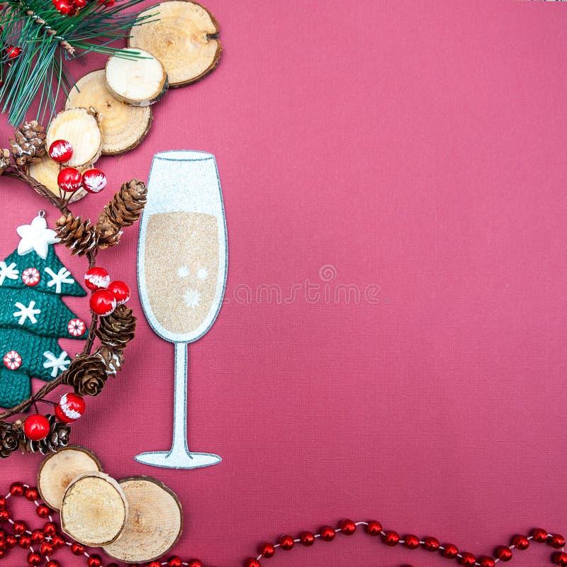 Natale, fondo del nuovo anno con spazio per testo fotografie stock libere da diritti
