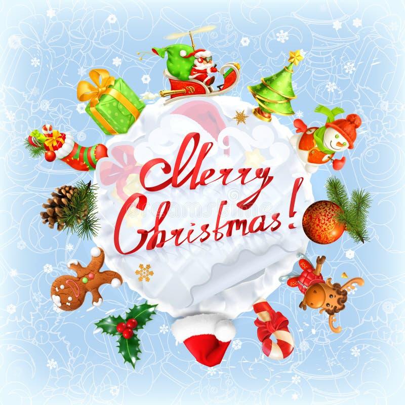 Natale, fondo di vettore illustrazione vettoriale