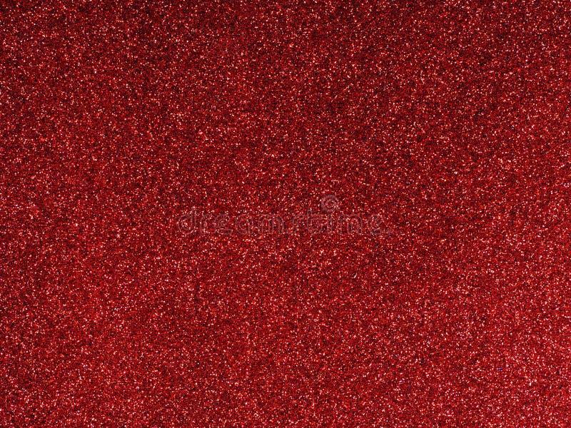 Natale glittery rosso o priorità bassa festiva fotografia stock libera da diritti
