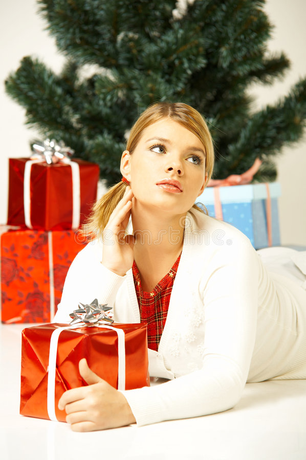 Natale Gril immagine stock