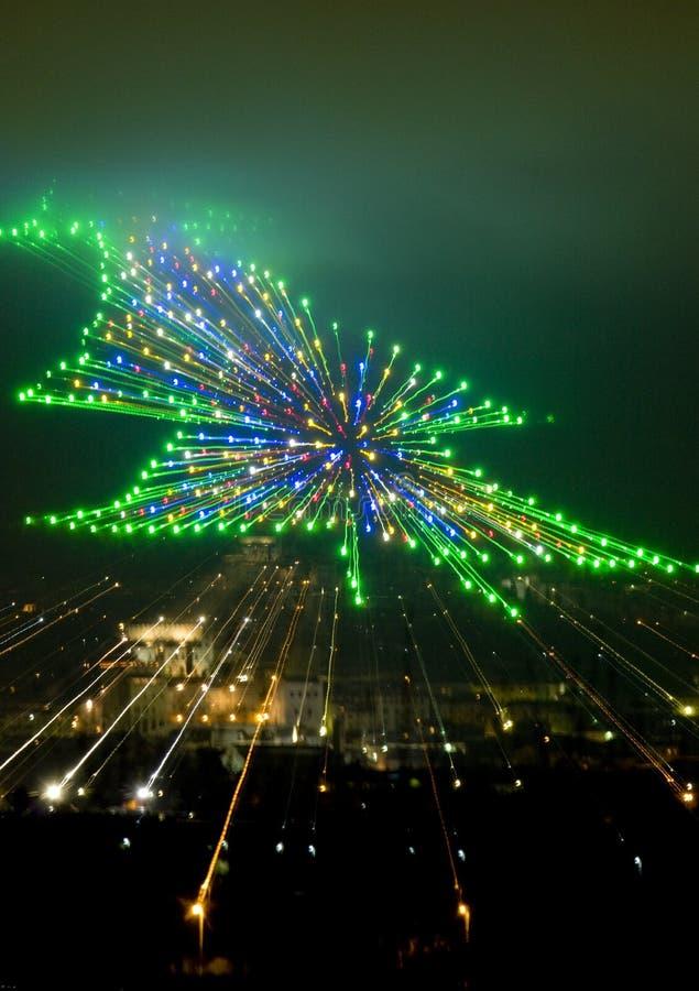 Natale in Gubbio fotografie stock libere da diritti