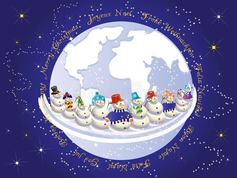 Natale internazionale royalty illustrazione gratis