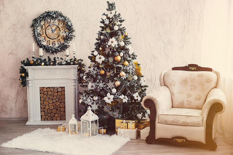 Natale interno fotografie stock