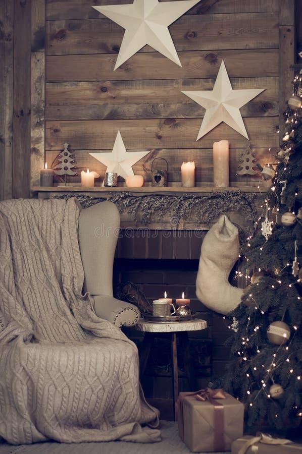 Natale interno immagine stock
