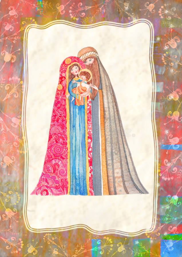 Natale: Jesus Christ, Joseph, Maria fotografie stock libere da diritti