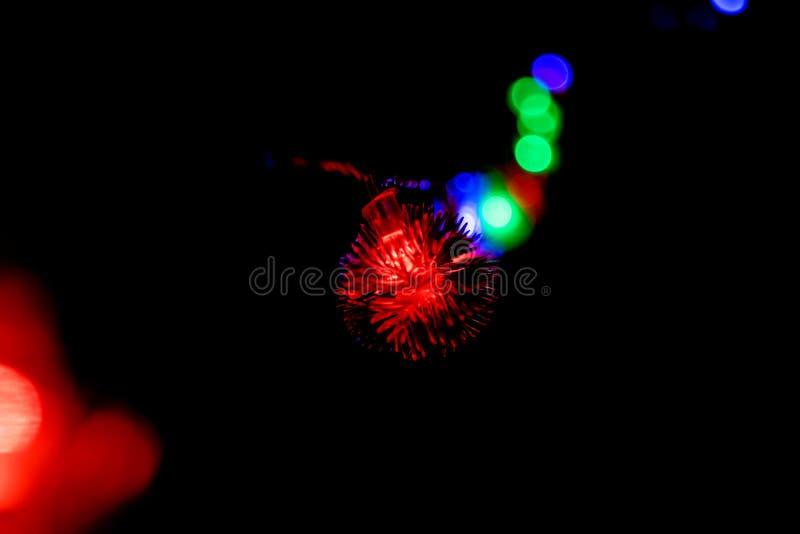 Natale a lungo delle luci intermittenti, decorazioni 04 del nuovo anno immagini stock libere da diritti