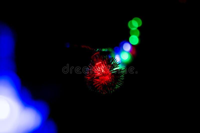 Natale a lungo delle luci intermittenti, decorazioni 02 del nuovo anno fotografia stock