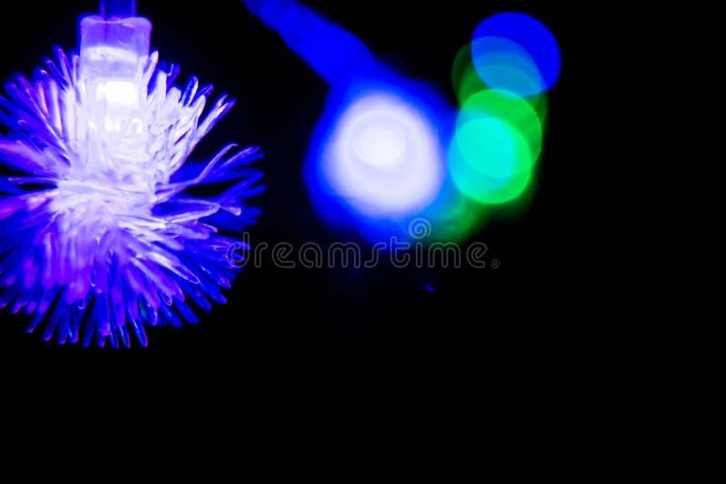 Natale a lungo delle luci intermittenti, decorazioni 01 del nuovo anno immagine stock