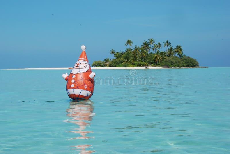 Natale Maldives della laguna fotografia stock