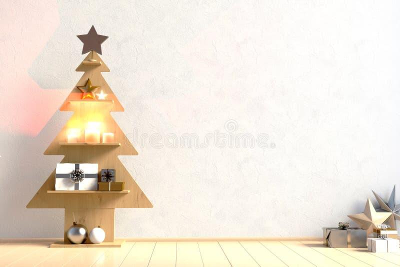 Natale minimalistic moderno interno, stile scandinavo 3D i royalty illustrazione gratis