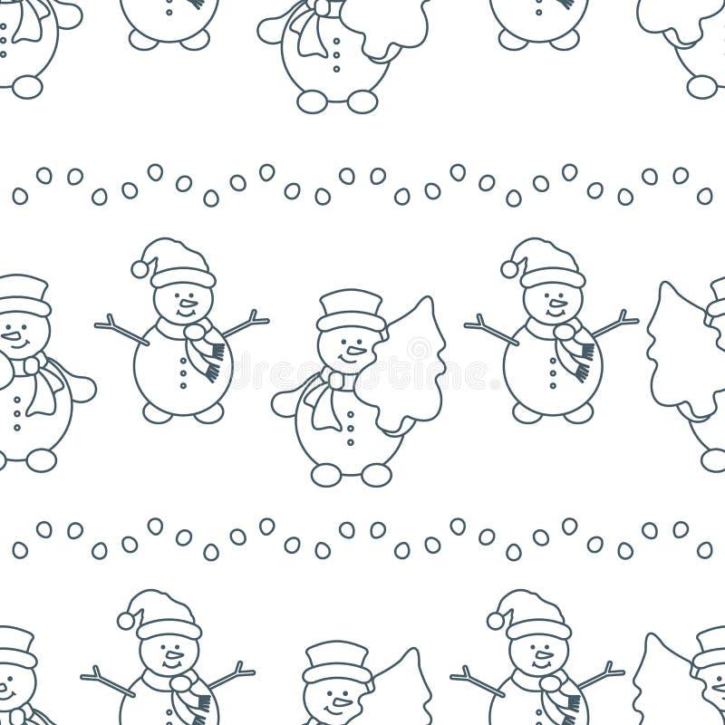 Natale, modello senza cuciture del nuovo anno 2019 royalty illustrazione gratis