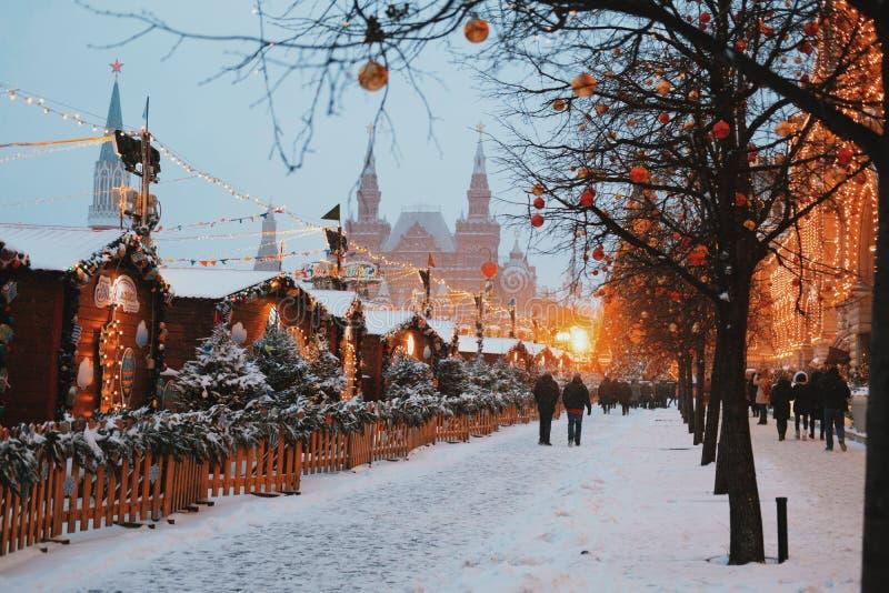Natale a Mosca Nuovo anno fotografie stock