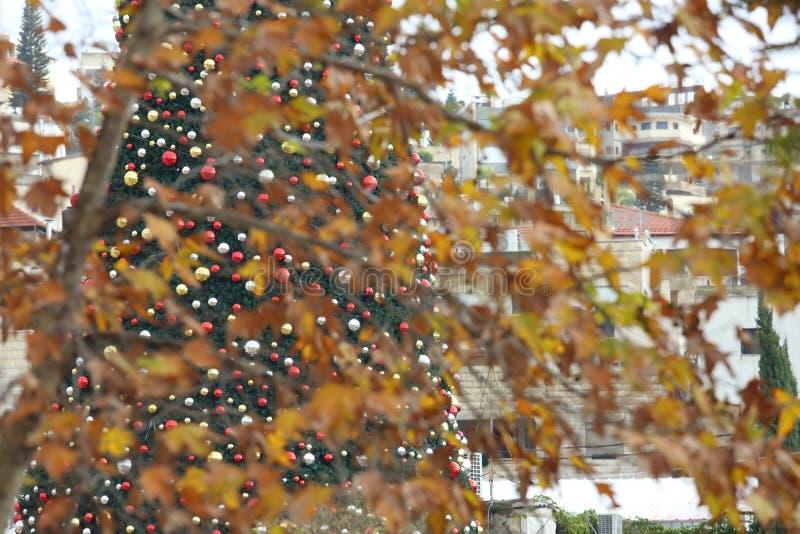 Natale a Nazaret fotografie stock libere da diritti
