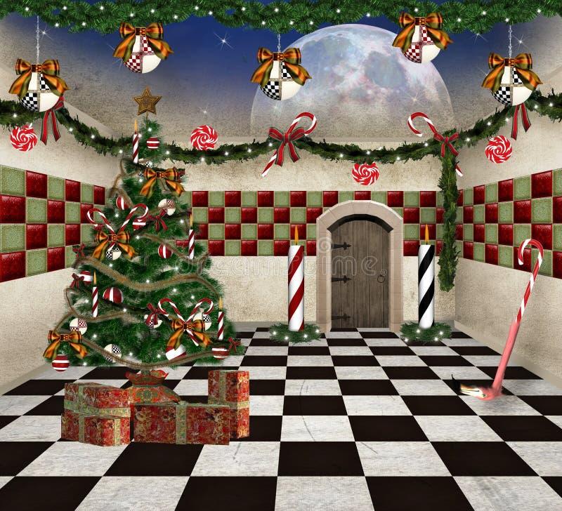Natale nel paese delle meraviglie illustrazione vettoriale