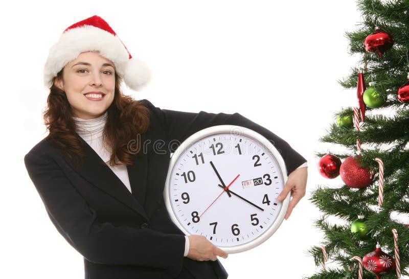 Natale nell'ufficio fotografia stock libera da diritti