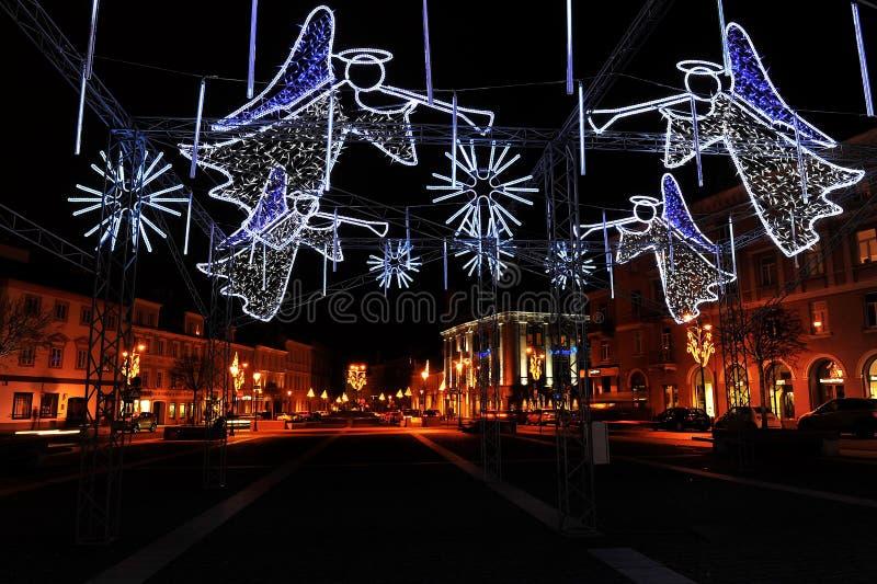 Natale nella città immagini stock libere da diritti