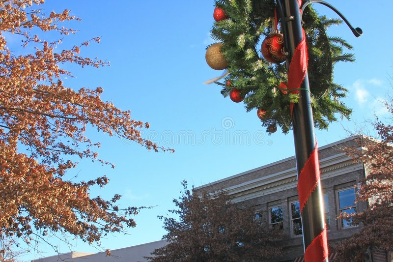 Natale nella città immagine stock libera da diritti