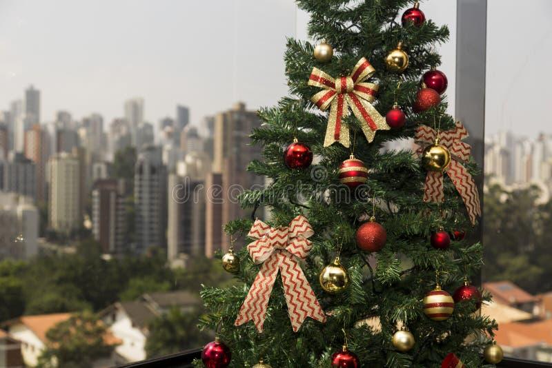 Natale nella città fotografie stock