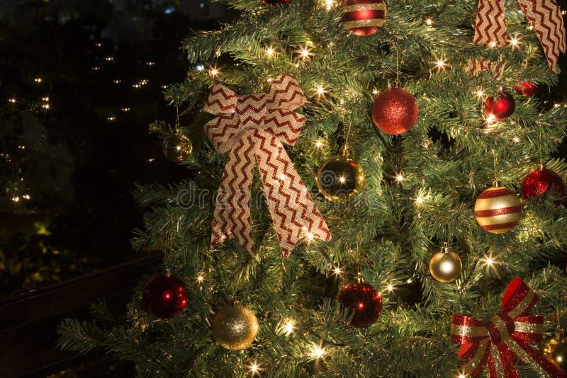 Natale nella città fotografia stock