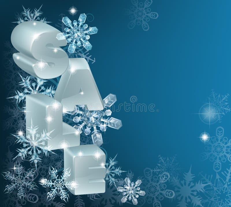 Natale o fondo di vendita del nuovo anno royalty illustrazione gratis